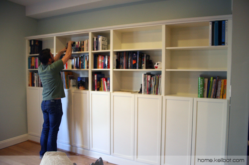 Built In Bookcases By Ikea
