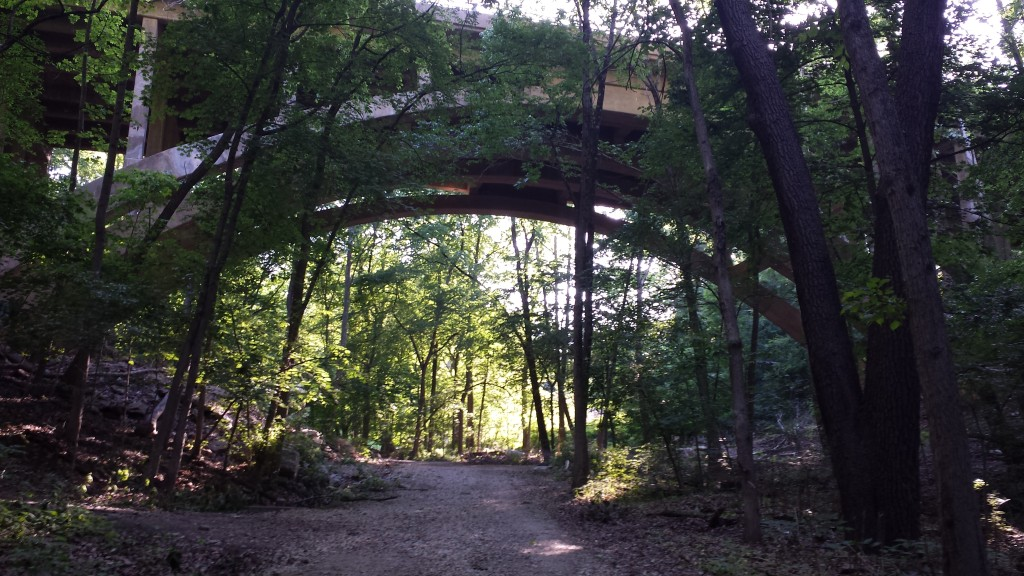 An overpass in Wissahickon Valley
