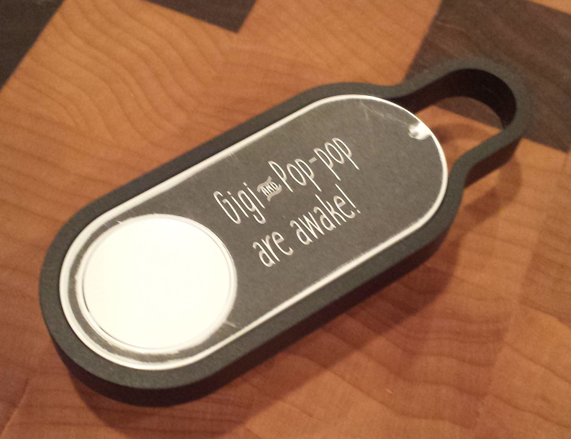A dash button that lets me sleep in