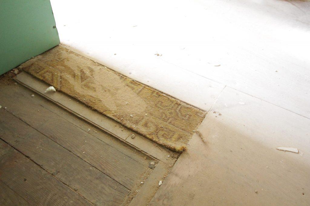 Old kitchen carpet