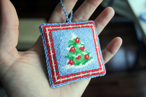 Needlepoint Christmas Ornament