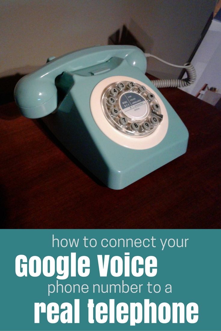 Connect Google Voice to a real phone without a landline, works with any old phone.