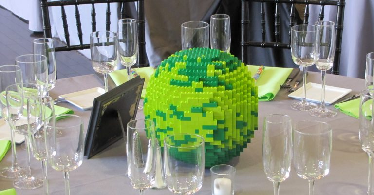 DIY Lego Wedding Centerpieces