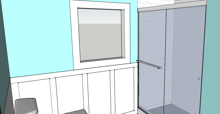 Layout for new shower